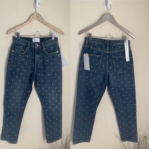 Current/Elliott Vintage Studded high waist slim 25